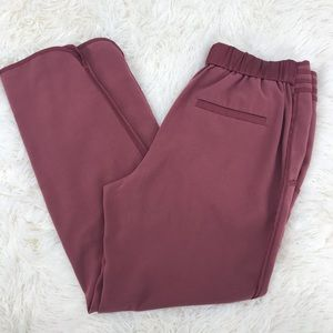 Anthropologie Elevenses Pull On Pants Blush Crop